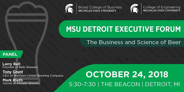 MSU Detroit Executive Forum invitation