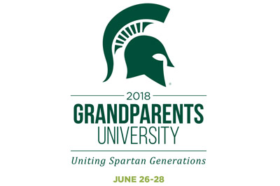 2018 Grandparents University - Uniting Spartan Generations - June 26-28 - Spartan helmet logo