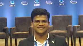 Abhishek Jindal at the Clinton Global Initiative conference