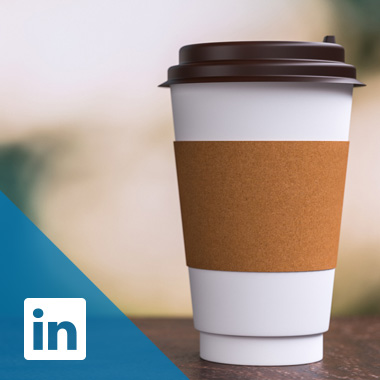 A to-go coffee cup