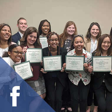 A picture of the award recipients at MSU's third annual Diversity Research Showcase.