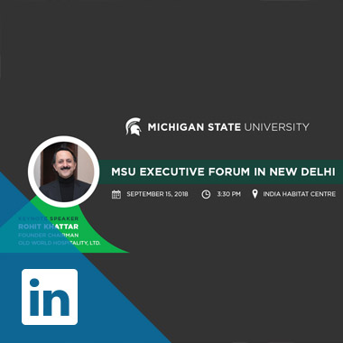 Michigan State University - MSU Executive Forum in New Delhi