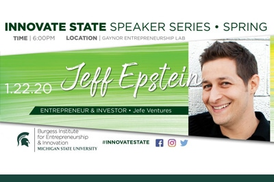 Jeff Epstein is the first guest to kick off the spring series of Innovate State.