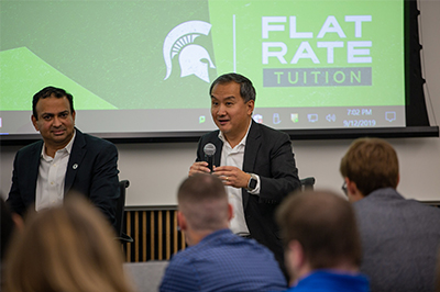 Speakers share advice to current MBA students at the Pung Speaker Series events.