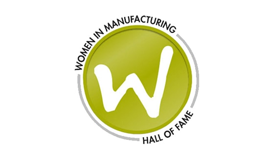 Women in Manufacturing Hall of Fame logo.