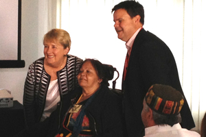 Minister for Families, Community Services and Indigenous Affairs and Minister for Disability Reform, the Hon. Jenny Macklin MP, Gayle Rankine Chairperson of Peoples Disability Network Australia (FPDN) and Damian Griffis, Executive Officer First Peoples Disability Network Australia (FPDN)