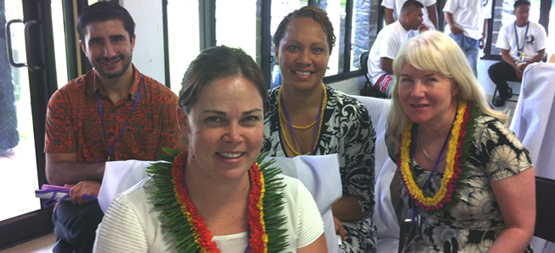 IMAGE: The Australian Delegation (L-R): Nick Pejik (DFaT, Pohnpei), Regional Counsellor Soli Middleby and Senior Program Manager Melinia Nawadra (DFaT Suva) with Samantha French Senior Projects Manager (PWDA)