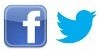 Twitter en Facebook logo