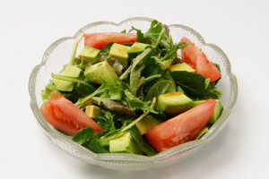 Salade d'avocat sauce wasabi