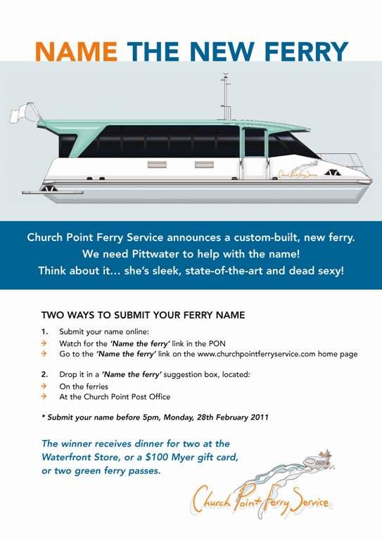 Church Point Ferry Service announces a custom-built, new ferry.