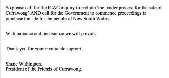 Currawong Notice 2