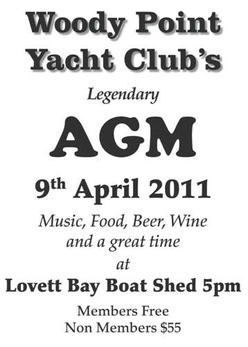 Woody point AGM