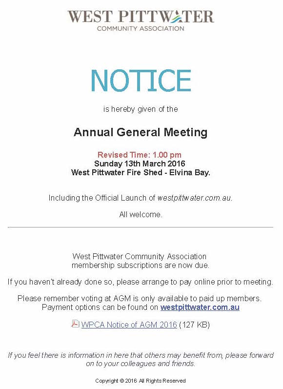WPCA AGM
