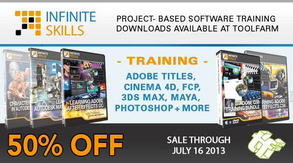 50% Off Infinite Skills Training, 50% Off BCC Particles Unit