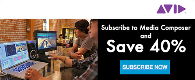 40% Off Avid Media Composer 1-Year Subscription - Sale