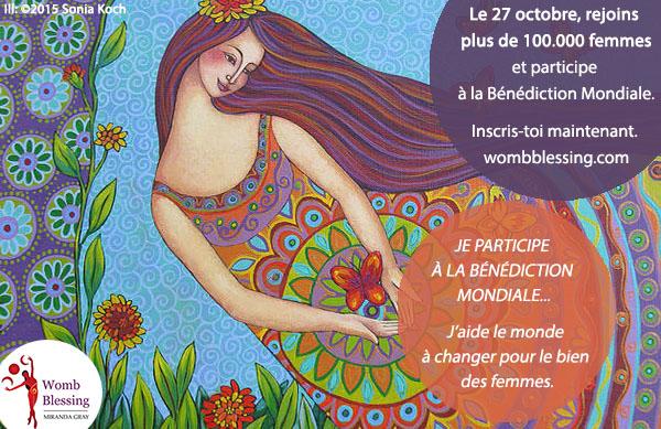 JE PARTICIPE À LA BÉNÉDICTION MONDIALE... J'aide le monde à changer pour le bien des femmes. Le 27 octobre, rejoins plus de 100.000 femmes et participe à la Bénédiction Mondiale Inscris-toi maintenant: http://www.mirandagray.co.uk/register.html