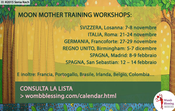 Miranda Gray's Worshops - Consulta la lista: http://www.wombblessing.com/calendar.html